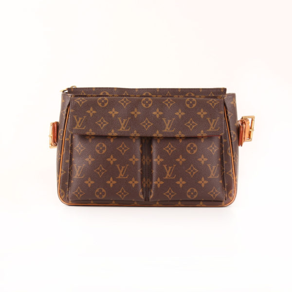 Imagen frontal del bolso louis vuitton viva-cité gm monogram