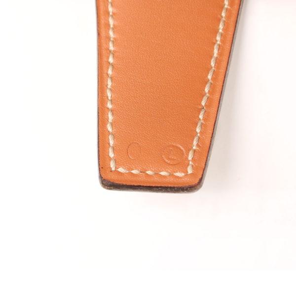 Imagen de la referencia del cinturón H hermès gold blanco herrajes dorados box calf