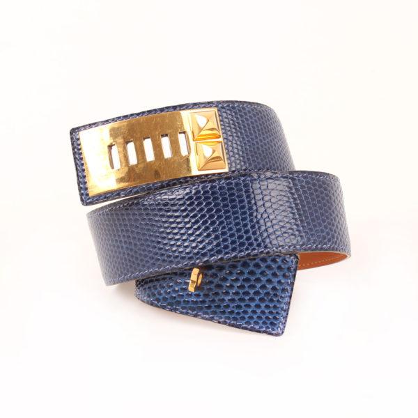 Imagen 1 del cinturón hermès lagarto medor collier chien azul
