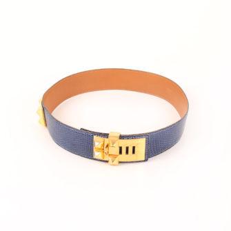 Imagen del cinturón medor hermes piel lagarto collier chien