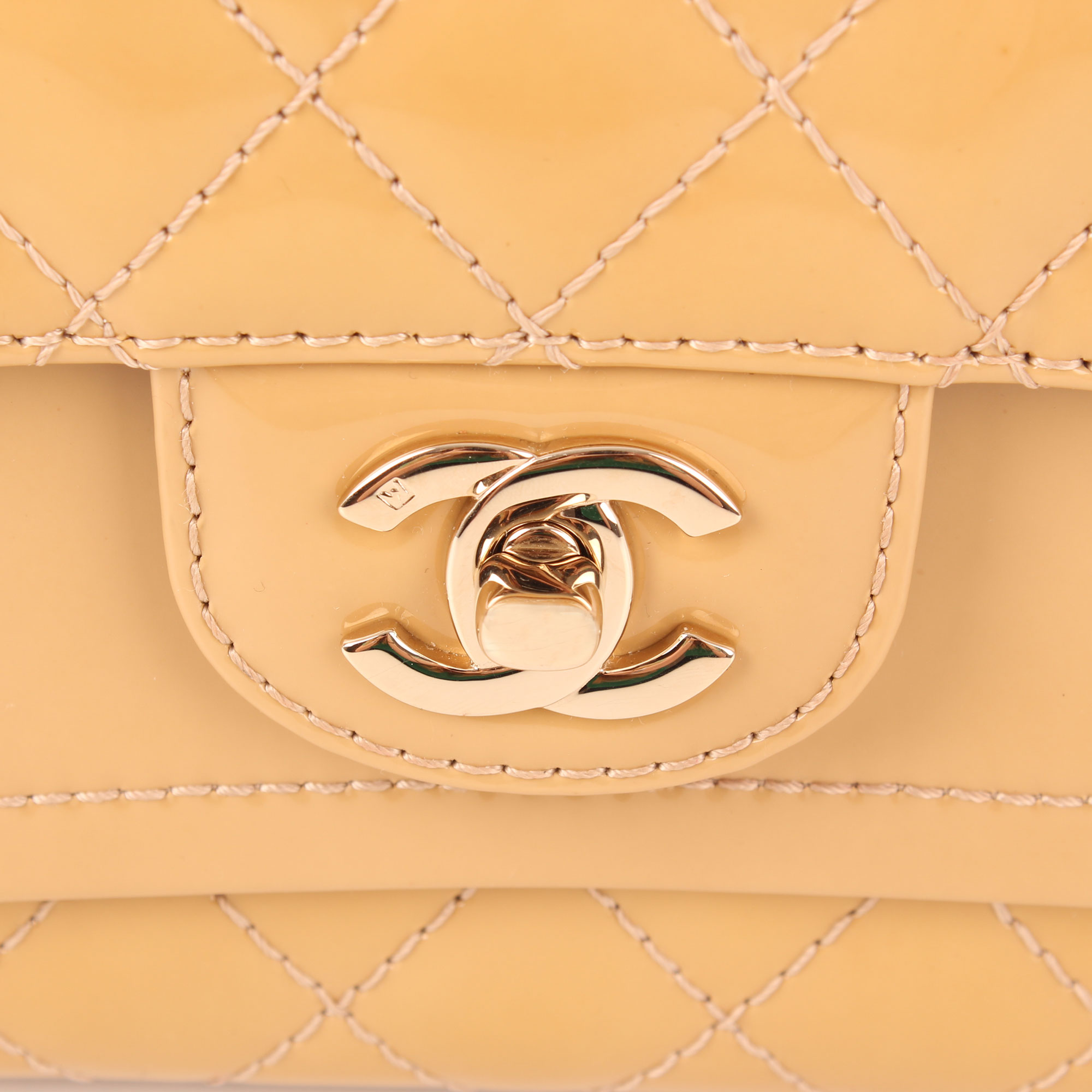 ce589650fd93eb Chanel Timeless Double Flap Bag Patent Leather Yellow