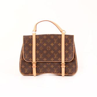 Imagen frontal de la mochila louis vuitton marelle monogram