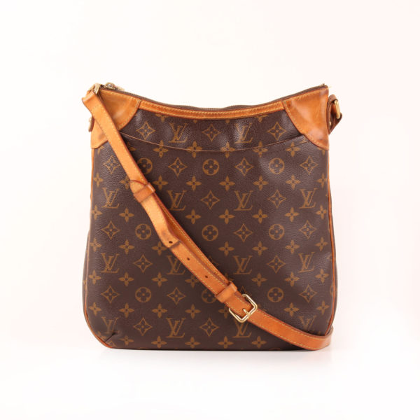 Front image of louis vuitton messenger bag odéon mm monogram