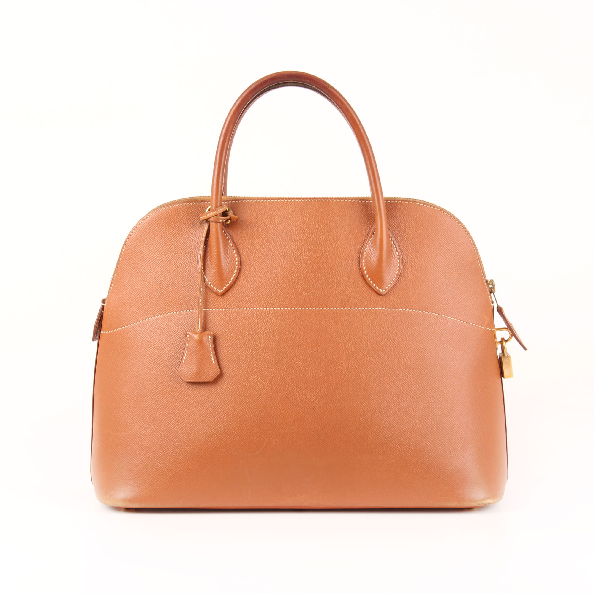Front Image Of Hermès Bolide Bag Courchevel Gold