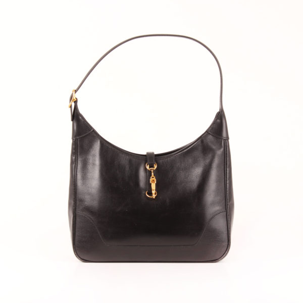 Front Image of hermès trim II bag box calf black gold