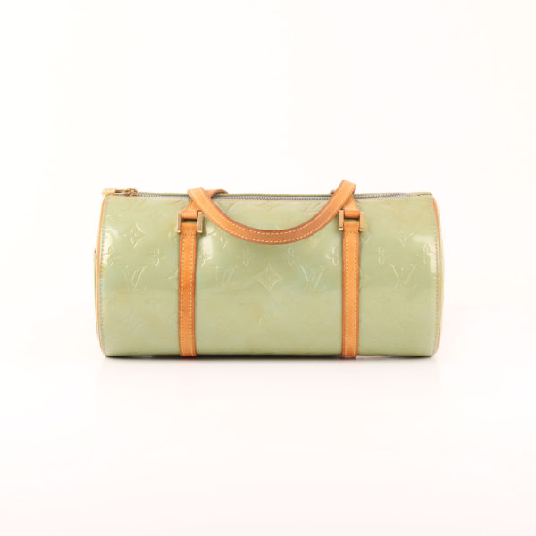 Front image of louis vuitton bag bedford vernis green