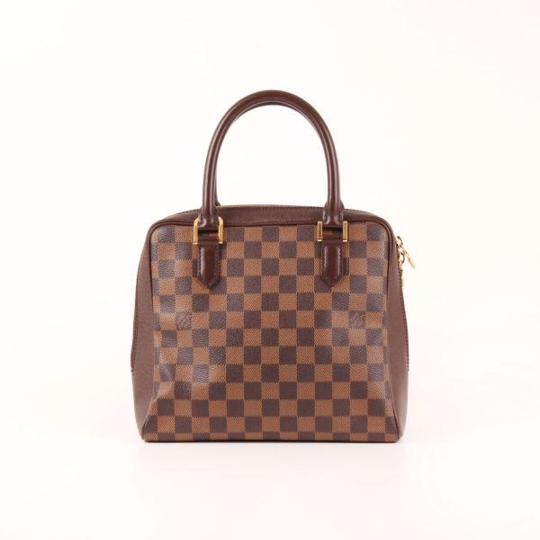 Front image of louis vuitton brera bag damier ebony brown