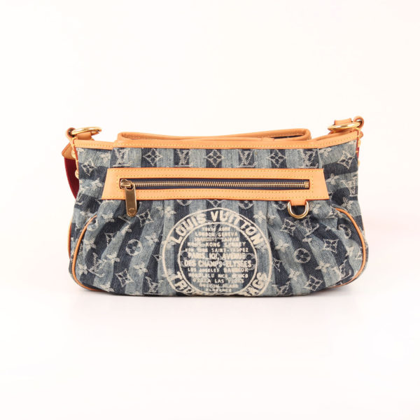 Front image of louis vuitton bag cruise denim strip monogram trunks & bags