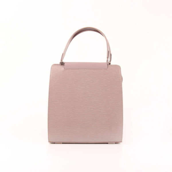 Front image from louis vuitton bag figari pm epi pink grey