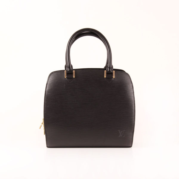 Front image from louis vuitton pont neuf bag épi black