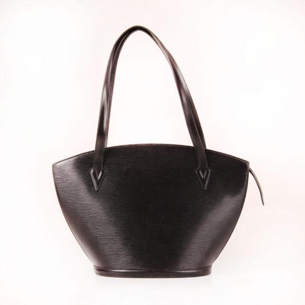 Front image of bag louis vuitton saint jacques gm épi black