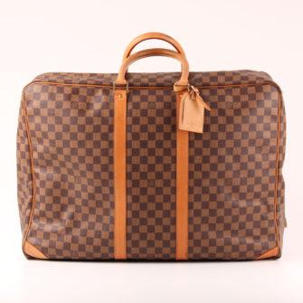 Front image of suitcase louis vuitton sirius 55 damier ebony