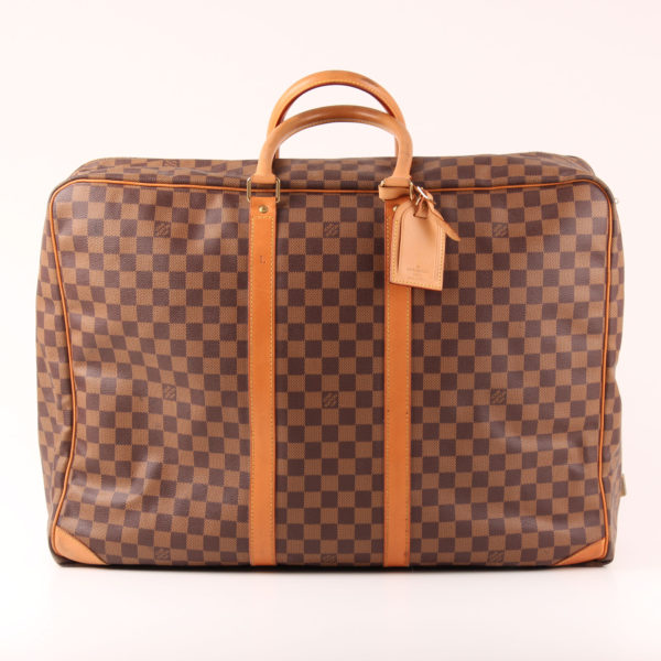 Front image of suitcase louis vuitton sirius 55 damier ebony