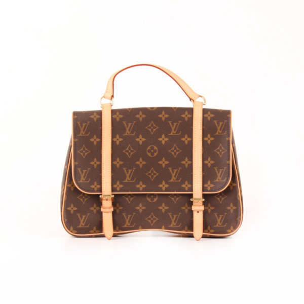 Front image of convertible satchel louis vuitton marelle monogram
