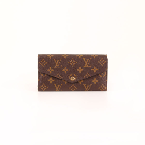 Front image of wallet louis vuitton sarah nm3 monogram