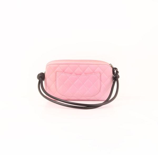 Imagen del bolso chanel cambon quilted pochette rosa