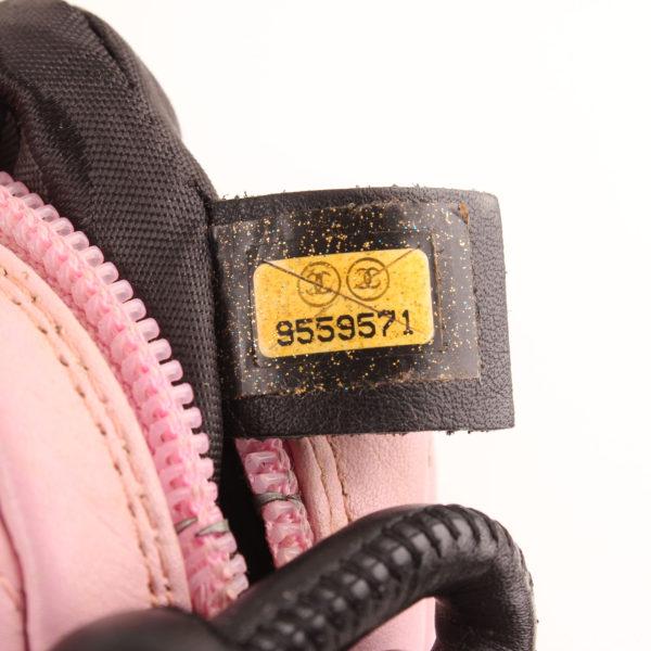 Imagen del serial del bolso chanel cambon quilted pochette rosa