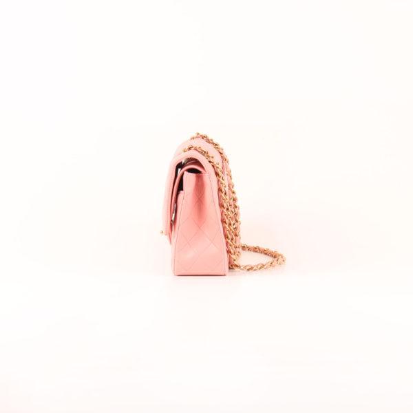 Imagen del lado 1 bolso chanel classic double flap rosa