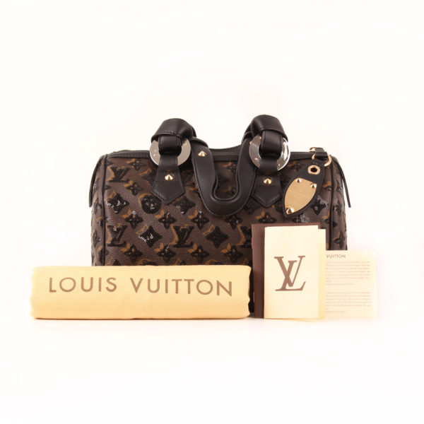 Imagen del dustbag del bolso de Louis Vuitton speedy 28 eclipse