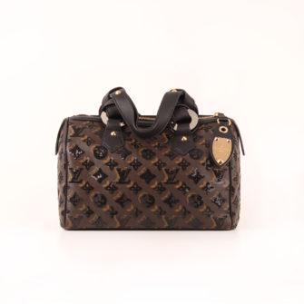 Image frontal del bolso de Louis Vuitton Speedy 28 Eclipse frontal