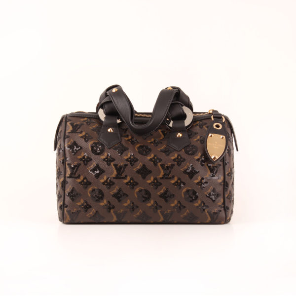 Image frontal del bolso de Louis Vuitton Speedy 28 Eclipse frontal