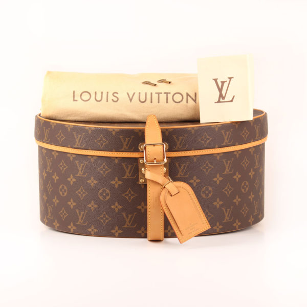 Imagen del dustbag de la sombrerera louis vuitton cabina monogram