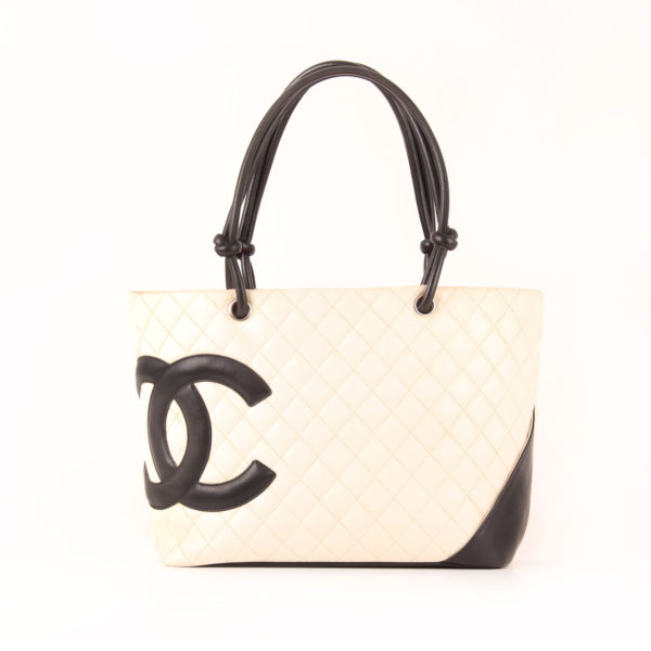 Front image of chanel cambon tote shopping frontal