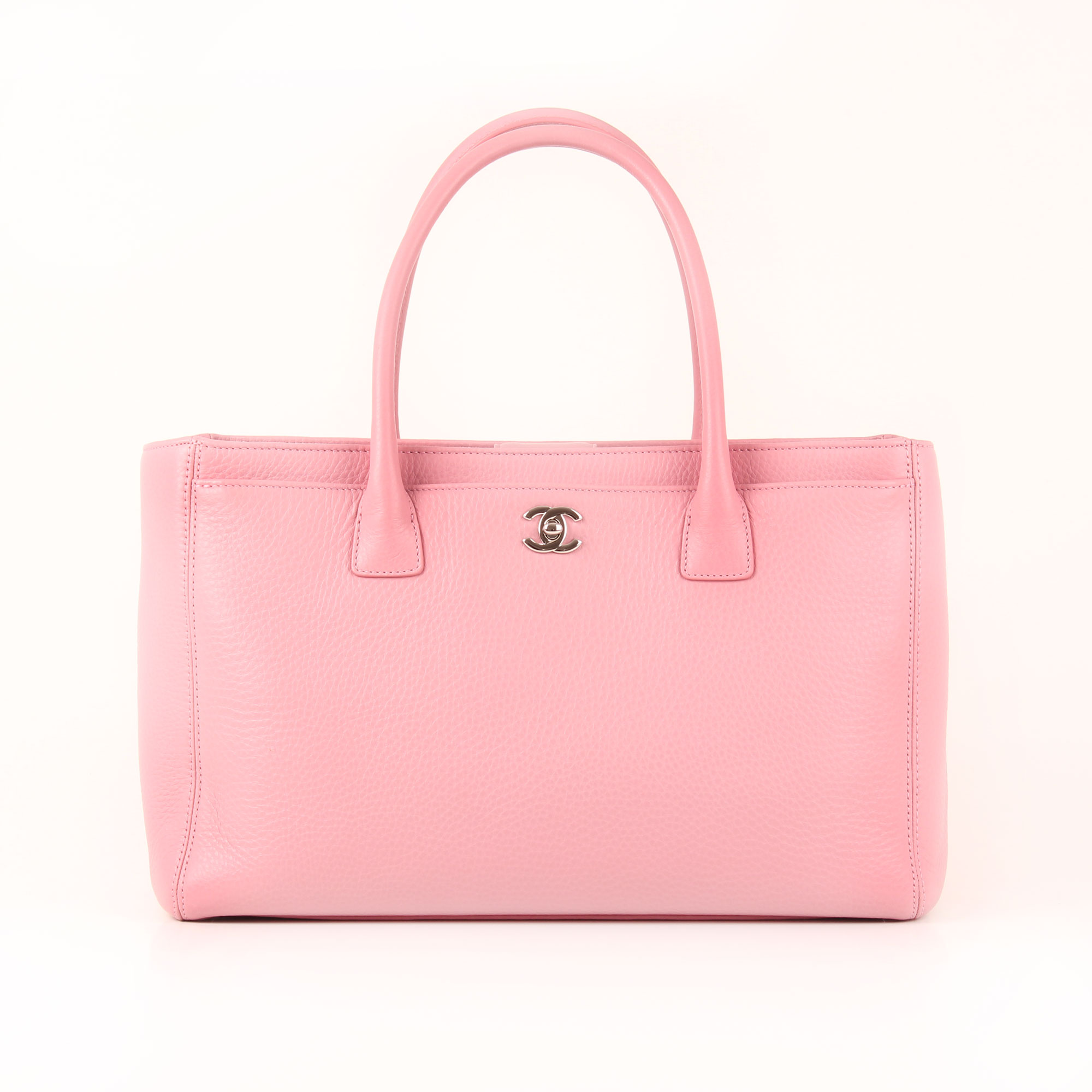 48b5e99128ea Front image from chanel bag cerf tote pink