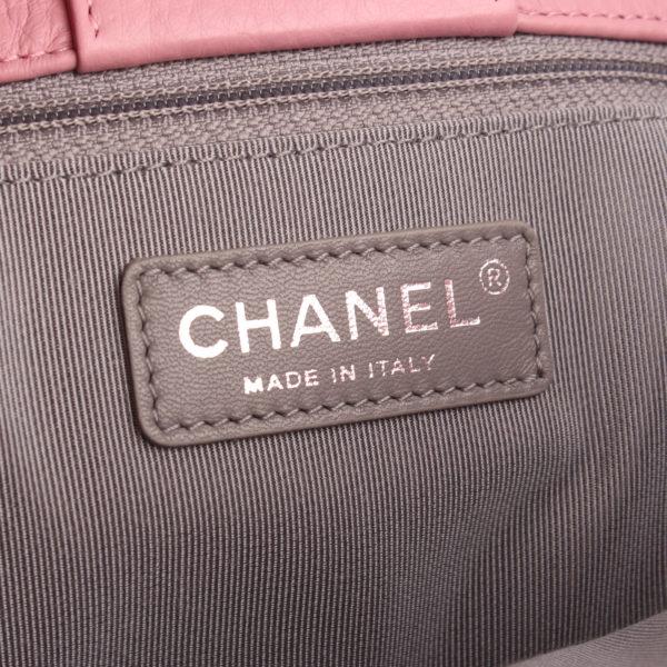 Imagen de la marca del bolso chanel cerf tote rosa