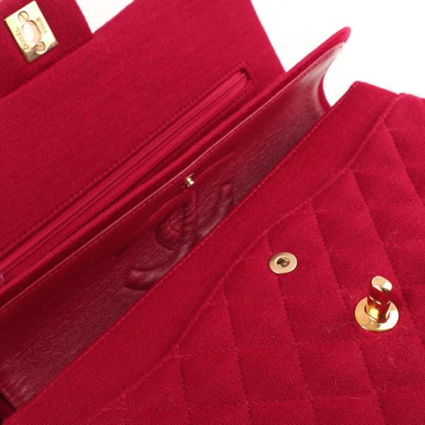 Imagen de la solapa 1 del bolso chanel jersey doube flap burdeos