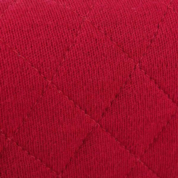 Imagen del tejido del bolso chanel jersey doube flap burdeos