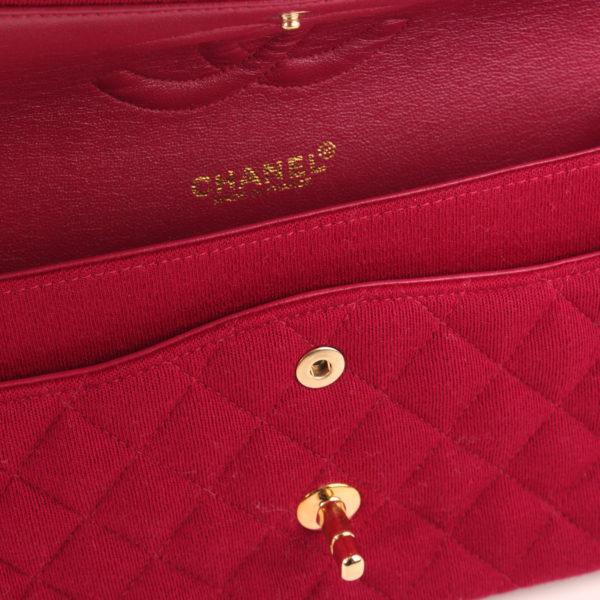 Imagen de la marca del bolso chanel jersey doube flap burdeos