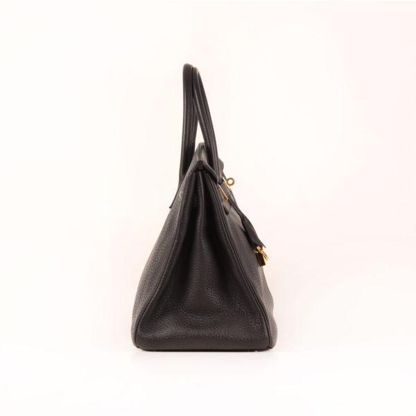 Imagen del lado 1 del bolso hermes birkin 35 negro