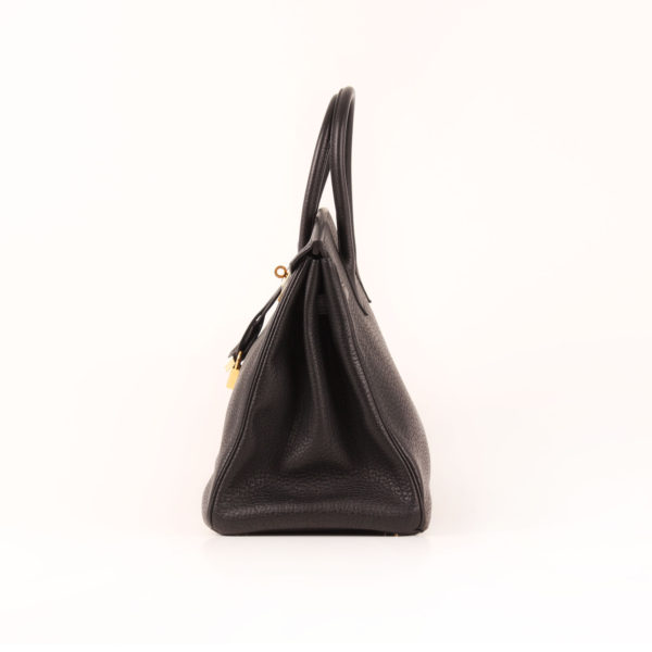 Imagen del lado 2 del bolso hermes birkin 35 negro