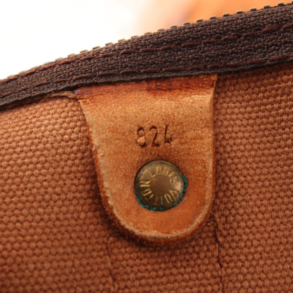Imagen del serial de la bolsa louis vuitton keepall monogram 60