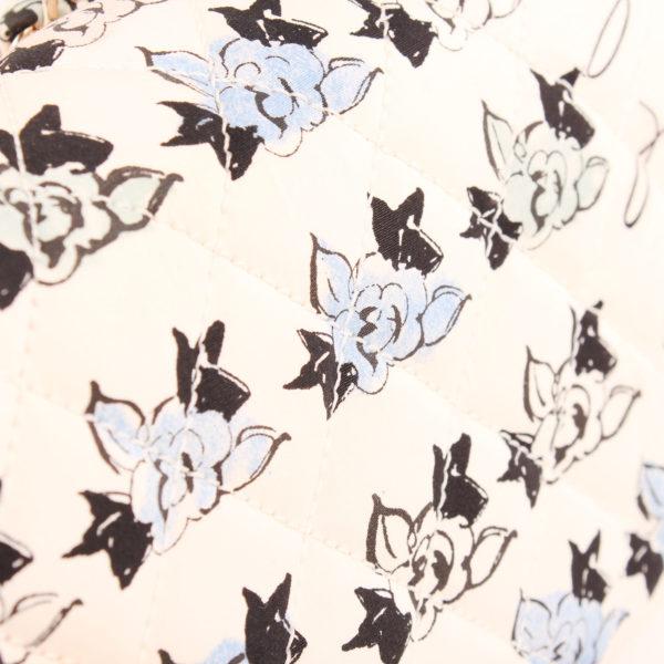 Imagen de la tela del bolso chanel coco fabric