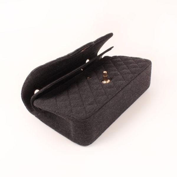 Imagen general del bolso chanel jersey gris