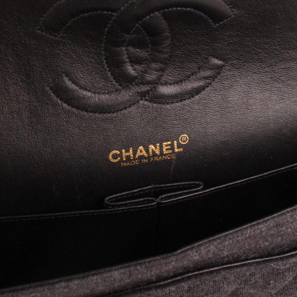 Imagen de la marca del bolso chanel jersey gris
