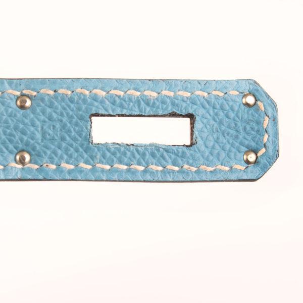 Imagen del serial del bolso hermes kelly 35 azul