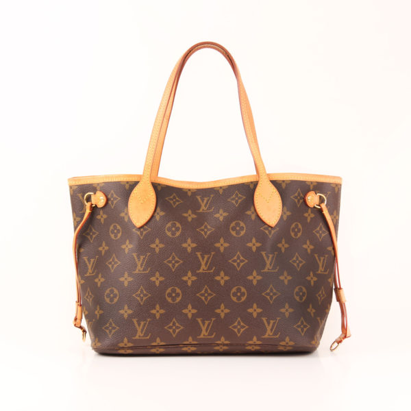 Front image of louis vuitton neverfull bag pm monogram
