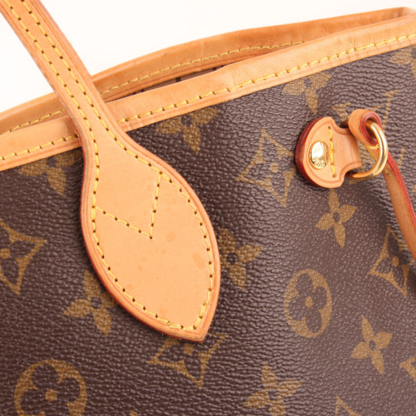 Leather image of louis vuitton neverfull bag pm monogram