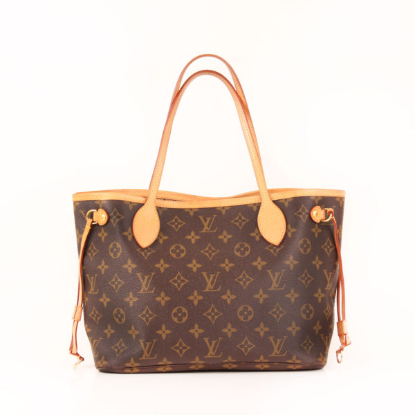 Back image of louis vuitton neverfull bag pm monogram