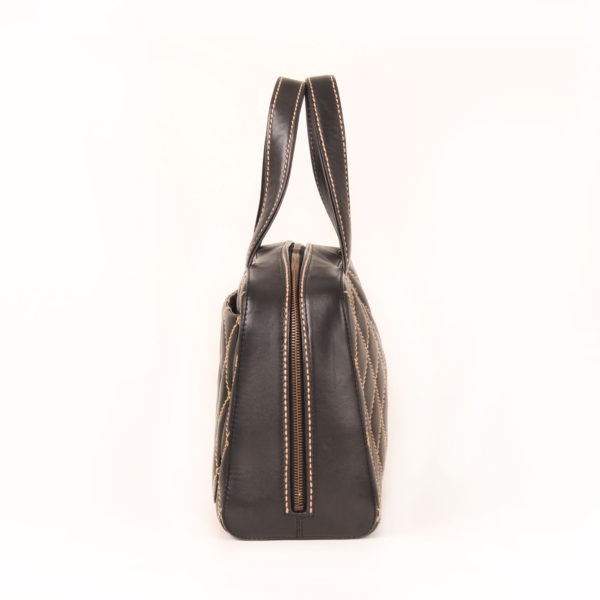 Side 2 image of chanel wild stitch black tote bag