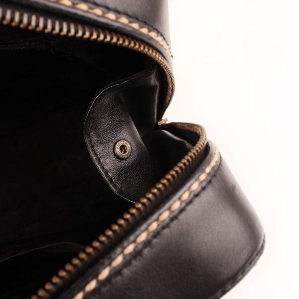 Detail image of chanel wild stitch black tote bag