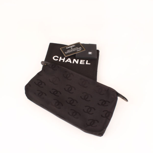 Extras image of chanel wild stitch black tote bag