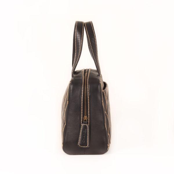 Side 1 image of chanel wild stitch black tote bag