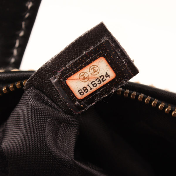 Serial image of chanel wild stitch black tote bag