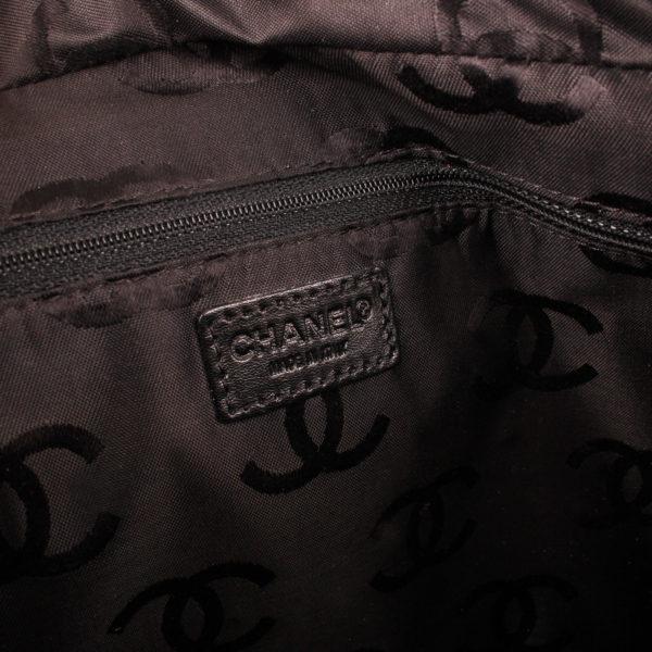 Brand tag image of chanel wild stitch black tote bag