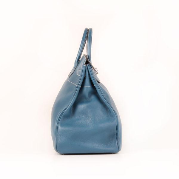 Imagen del lado 1 del bolsa hermes HAC azul