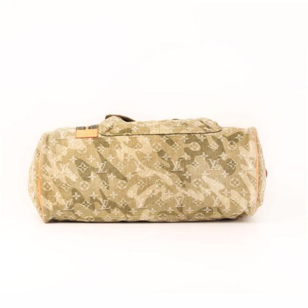 Imagen de la base de la bolsa louis vuitton denim verde